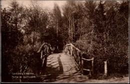 ! Alte Ansichtskarte Landsberg An Der Warthe , Brücke Im Quilitzpark, 1926 - Neumark