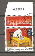 N° 3066 Journées De La Lettre Enveloppe Personnage écrivant Une Lettre France Oblitéré 1997 - France