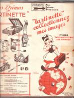 Z910 - DOUBLE FEUILLET COLLECTEUR FROMAGERIE GRAF - TARTINETTE - Albums & Catalogues