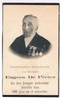 100 Jarige. Dp. De Preter Eugeen. Wed. Dens Maria. ° Putte 1814 † Putte 1915  (2 Scan´s) - Religion & Esotérisme