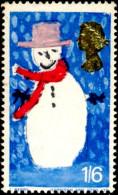 CELEBRATIONS-CHRISTMAS-SNOWMAN-PRE DECIMALS-GB-MNH-F1-03 - Christmas