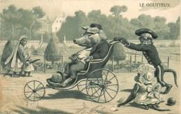LE GOUTTEUX - Singes Et Cochon Habillés, Carte Illustrée. - Cochons