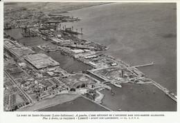 1959 - Héliogravure - Saint-Nazaire (Loire-Atlantique) - Vue Aérienne Du Port - FRANCO DE PORT - Vecchi Documenti
