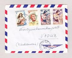 Liechtenstein VADUZ Ankunft Brief Aus Papeete Ile Tahiti 9.11.1959 - Liechtenstein
