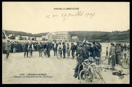 Cpa Du 22  Perros Guirec Courses De Bicyclettes Sur La Plage    NCL8bis - Perros-Guirec