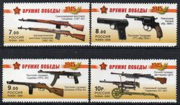 * Russia 2009 Mi. 1543/1546 Weapon Of Victory Small Arms MNH ** - Neufs