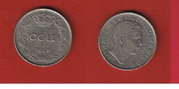 Roumanie  --  100 Lei 1943  --  KM # 64  --  état  TTB --  Petits Coups Tranche - Romania