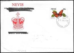 Nevis: Farfalla, Papillon, Butterfly, (OFFICIAL), Dione Juno - Butterflies