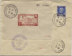 SECOURS NATIONAL  (Yvert N° 552) Propagande Philatélique Lyon Bloc) - Marcophilie (Lettres)