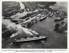 1959 - Héliogravure - Le Havre (Seine-Maritime) - Vue Aérienne De La Gare Maritime - FRANCO DE PORT - Old Paper