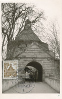 D26624 CARTE MAXIMUM CARD FD 1964 GERMANY - CITY GATE ELLWANGEN CP ORIGINAL - Architecture
