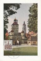 D26625 CARTE MAXIMUM CARD FD 1964 GERMANY - CITY GATE WEISSENBURG CP ORIGINAL - Architecture
