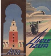 Avion Aviation Compagnie Air Azur D.C.3 Grand Luxe Tunis Alger Corse Oran Casablanca Dakar - Commerciële Luchtvaart