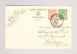 Belgien LIERS 22.12.1938 Ganzsache 5 Und 35c Nach Bassenges - Ganzsachen