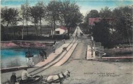 SAUJON - Le Pont Dufaure Et Avenue Rochefort (carte Vendue En L'état). - Saujon