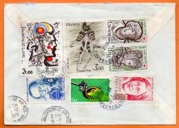 MAURY  N° 2072 + 2073  DALI / CHAPELAIN  Recommandé Lettre Entière N° O 413 - Marcophilie (Lettres)