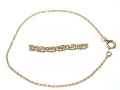 ANCIEN BRACELET FIN DORé PLAQUÉ OR MAILLE ENROULéE SPIRALE - Bracelets