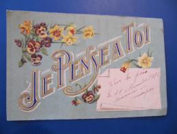 CPA - JE PENSE A TOI - VIVE LA PAIX - SOUVENIR DE QUIMPER - 11 NOVEMBRE 1918 - Quimper