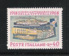 ITALIA REP.-1968-valore Nuovo Stl Da Lire 40 Emissione 50° Della Vittoria 1918 - VARIETA' STAMPA-in Ottime Condizioni. - Varietà E Curiosità
