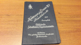 Old Book - Hartmann & Braun A, Frankfurt A. Main, Elektrische Schalttafel-Messinstrumente - Catalogues