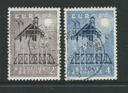 Belgien 1957 Mi 1070 - 1071 Gestempelt - Europa-CEPT