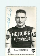 CYCLISME - Franz MELCKENBEECK , Autographe Manuscrit  - Equipe MERCIER -  En L' état  - 2 Scans - Ciclismo