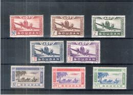 A.O.F. Soudan - Yv.PA.10/17 - X/MH - Série Complète (à Voir) - A.O.F. (1934-1959)