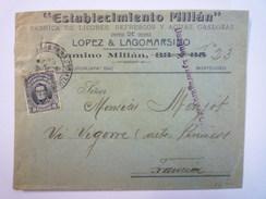 ENVELOPPE  Au Départ De  MONTEVIDEO  à Destination De  VIC-BIGORRE  1912   - Uruguay