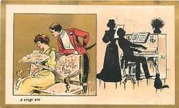 PIE-16-P - 2320 :  CHOCOLAT DELESPAUL-HAVEZ  LILLE.   SILHOUETTE.  LE PIANO. EVENTAIL. - Unclassified