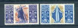 Italie  -  Avion  :  Yv  129-30  ** - 6. 1946-.. Republic