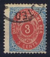 Danish West Indies : 1873 Mi 6IIa  Used Obl  Blaukarmin Kopfstehend WM - Dänemark (Antillen)