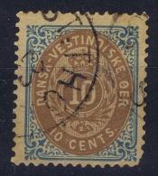 Danish West Indies : 1876 Mi 11 IIa  Used Obl   Kopfstehend WM - Denmark (West Indies)