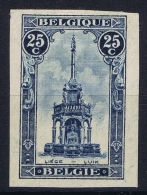 Belgium 1919 OPB 164  Ong/ND  Not Perforated RR MH/* Falz/ Charniere - Belgio