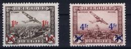 Belgium 1935 OPB Nr PA6 + PA7 MNH/**/postfrisch/neuf Sans Charniere - Airmail