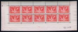 Belgium: 1926 F244 / 244 Complete Sheet  MNH/**/postfrisch/neuf Sans Charniere Printersmark TBC - Belgique