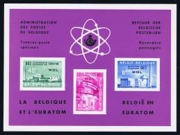Belgium: 1961 Luxevelletje / Feuillet De Luxe LX37 Euratom - Luxevelletjes