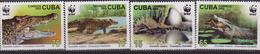 CUBA 2003 COCCODRILLI WWF CROCODILES SET MNH - W.W.F.
