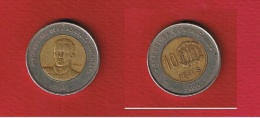 Rep Dominicaine  --  10  Pesos  2008 -- état  TB - Dominikanische Rep.