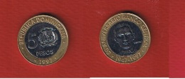 Rep Dominicaine  --  5  Pesos  1997  --  KM # 88 -- état  SUP - Dominicaine