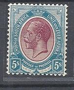 South Africa    1913 -1922 King George V   - WM 2 Filigrana  Testa Di Antilope - MNHINGED SOFTLY SEE SCAN - Sud Africa (...-1961)