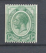South Africa    1913 -1922 King George V   - WM 2 Filigrana  Testa Di Antilope - HINGED ROULETTE - Sud Africa (...-1961)