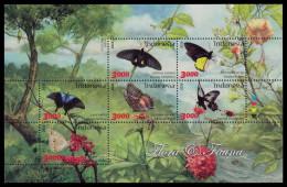 Indonesia 2016 Flora & Fauna Mnh MS Butterflies - Indonésie