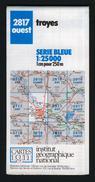 Carte IGN, Série Bleue, 2817 O, Troyes, Bréviandes, Saint-Lyé, La Chapelle Saint-Luc. - Cartes Topographiques