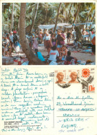 Flea Market, Anjuna, Goa, India Postcard Posted 1994 Stamp - India