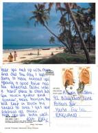 Colva Beach, Goa, India Postcard Posted 2004 Stamp - India
