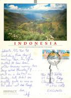 Lake Toba, Sumatra, Indonesia Postcard Posted 1994 Stamp - Indonesia