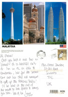 Tall Buildings, Kuala Lumpur, Malaysia Postcard Posted 2011 Stamp - Malaysia