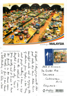 Wet Market, Kota Bharu, Kelantan, Malaysia Postcard Posted 2012 Stamp - Malaysia