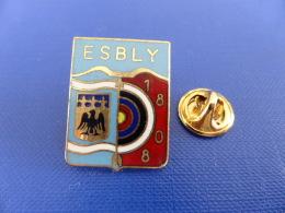 Pin's Tir à L'arc - Club Ville Esbly 1808 - Cible Blason (PW57) - Tir à L'Arc