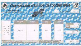 13 MARSEILLE Stade'vélodrome Billet D'entrée France-Portugal Championnat D'Europe De 1984 UEFA -2 Scans (736) - Unclassified
